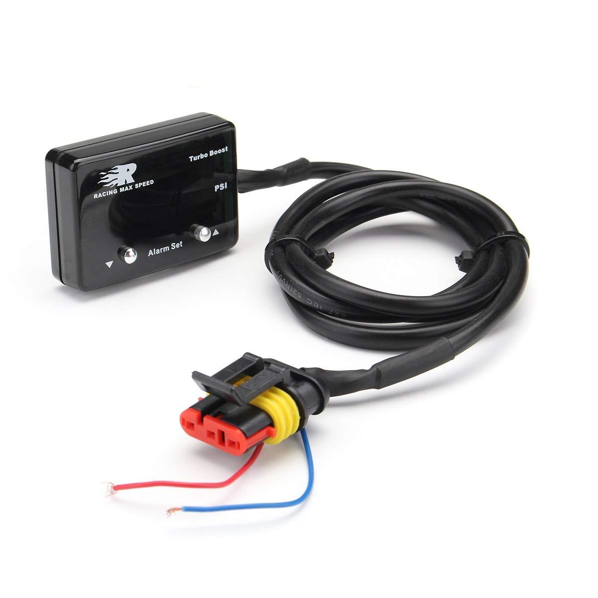Lindsie-Box - Car Turbo Boost Gauge Blue Mini LED Digital ...