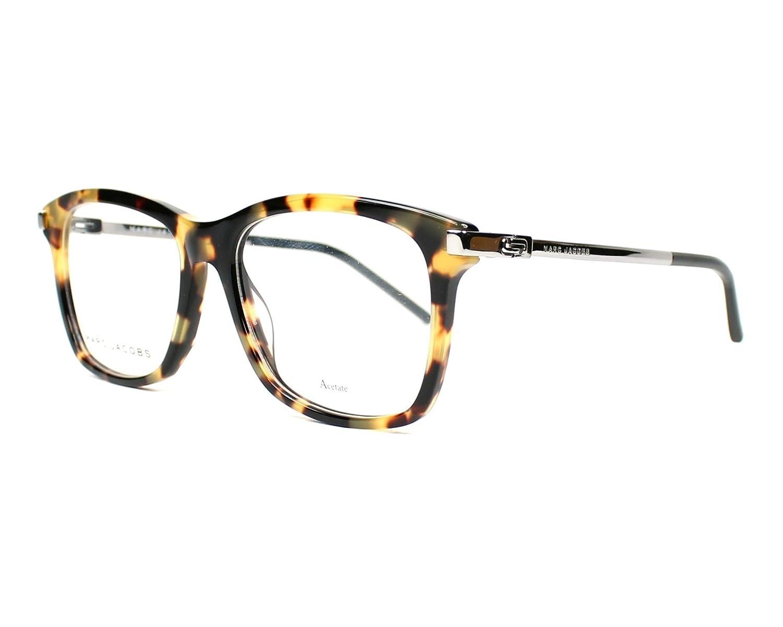 Marc Jacobs Plastic Rectangular Eyeglasses 54 0VJB Spotted Havana Marc-140 VJB