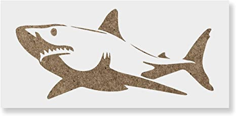 Amazon.com: Shark Stencil Template for Walls and Crafts - Reusable ...