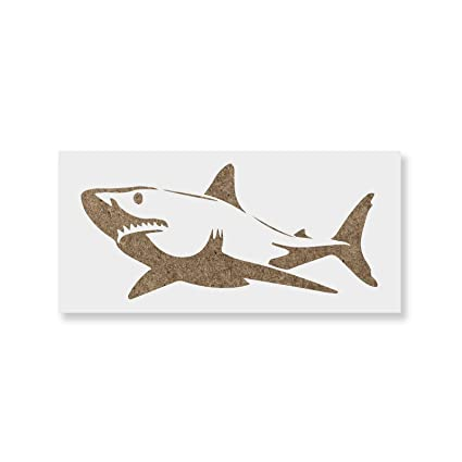 Amazon Com Shark Stencil Template For Walls And Crafts Reusable