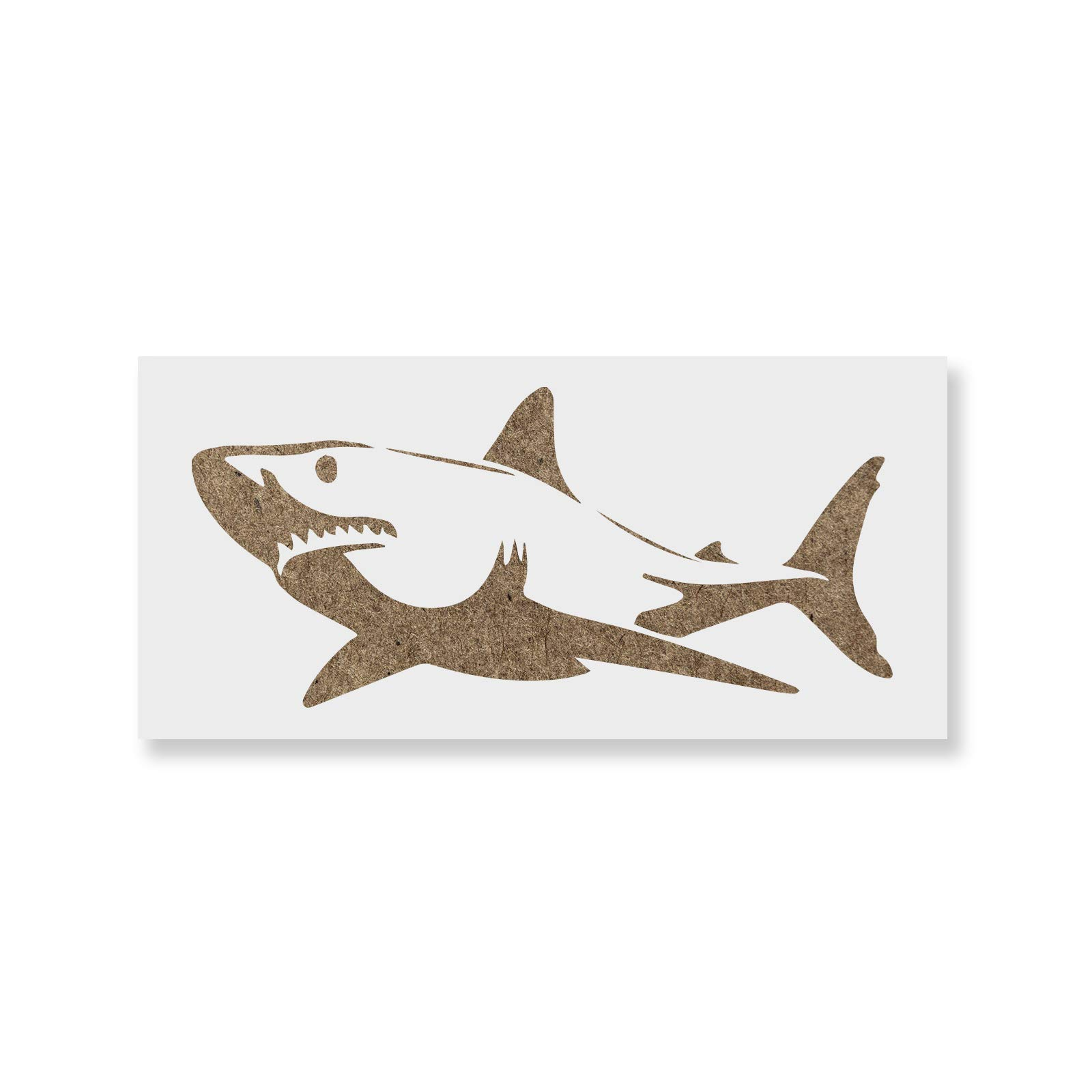 Shark Stencil Template for Walls and Crafts - Reusable Stencils for Painting in Small & Large Sizes