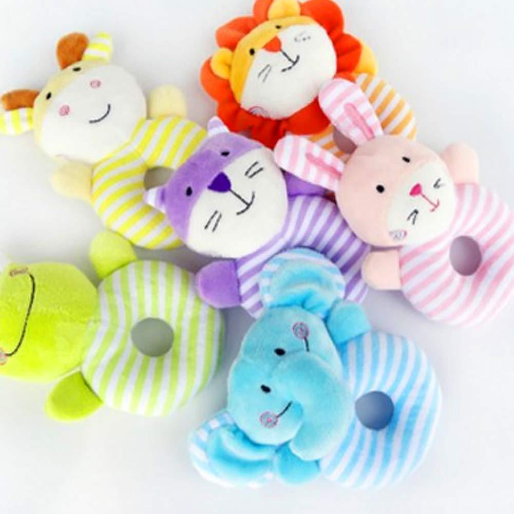 Ndier Baby Soft sonajero Juguetes Infantiles LT Cute Cartoon Animal Elephant Boy Girl Mano Campana Toddler Baby Juguetes Peluche Regalos para beb/é reci/én Nacido j/óvenes Unidad