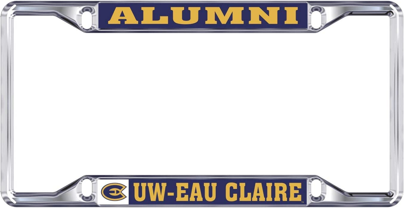 Desert Cactus University of Wisconsin Eau Claire UWEC Blugolds NCAA Metal License Plate Frame for Front Back of Car Officially Licensed Alumni