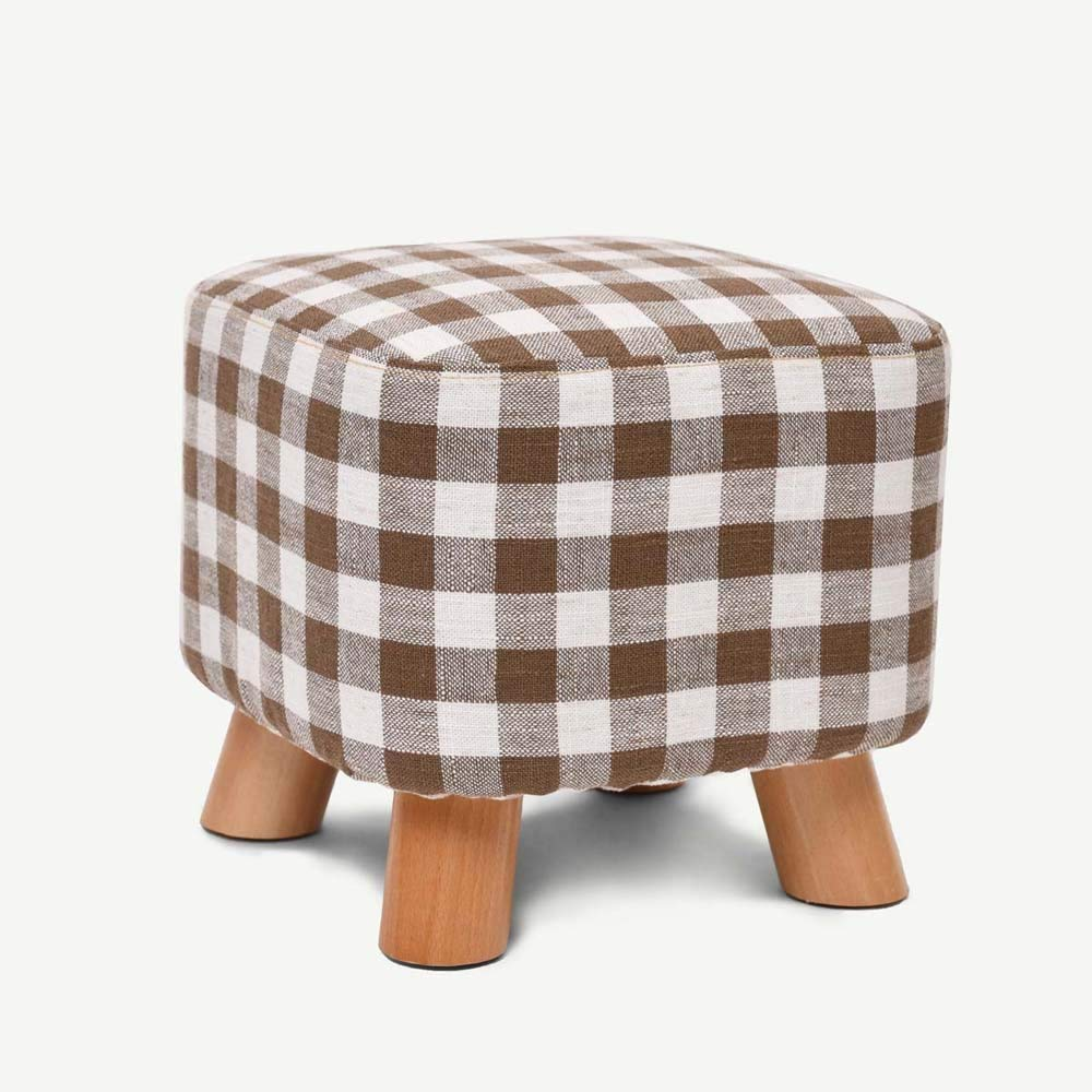 QTQZ Brisk- Solid Wood for Shoes Stool Long Shoe Stool Creative Square Stool Fabric Stool Stool Sofa Stool Coffee Table Bench Simple Stool Sofa Stool (A Variety of Styles Optional) (Color: A)