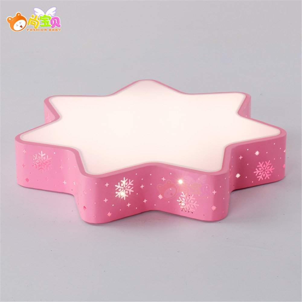 Leihongthebox Ceiling Lights lamp Children's Room stars ceiling LED children Ceiling lamp for boys and girls to room light dimmer snowflake tri-color for Study Room, Bedroom, Living Room,480mm by Leihongthebox (Image #2)