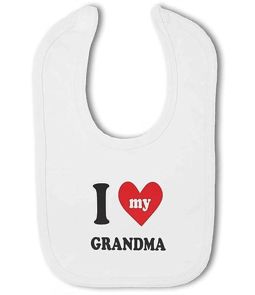 I Love My Nanna New Personalised Cotton Baby Bib for Boys /& Girls