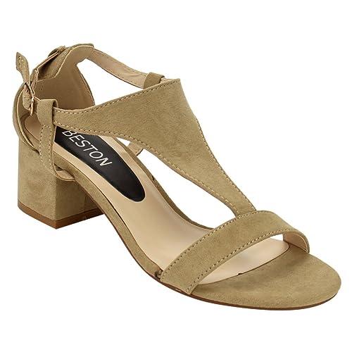 Women's Cutout Side Block Heel Dress High Heel Sandals