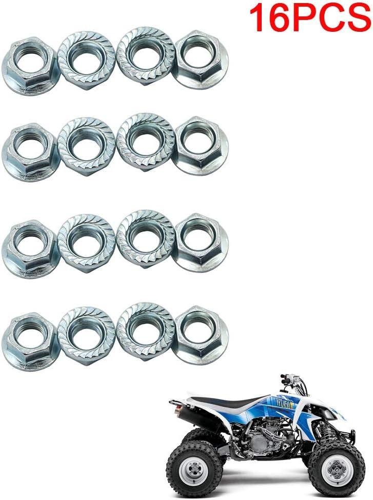 Tuercas de bloqueo para rueda de motocicleta 10 mm x 1,25 para Yamaha YFZ 450 660 Raptor Banshee para Honda TRX 250R 450R 250X 250EX 300EX 400EX ATC ...