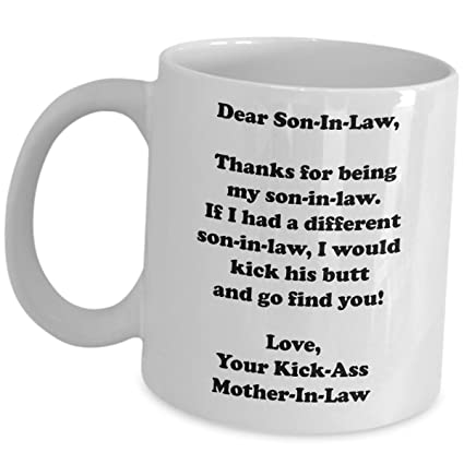 Funny Gag Gifts For Son In Law Coffee Mug Cute Cup