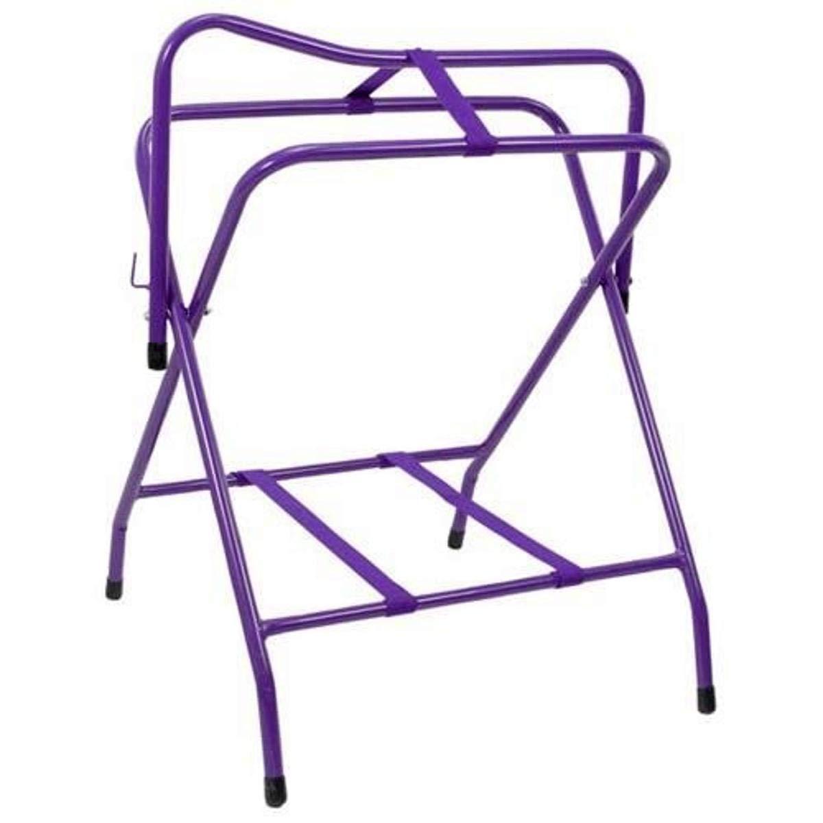 Tough-1 Folding Floor Saddle Rack w/Web Bottom Purple