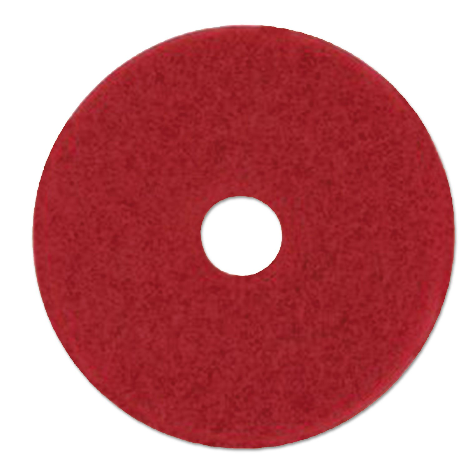 Low-Speed Buffer Floor Pads 5100, 28'' X 14'', Red, 10/carton by 3M