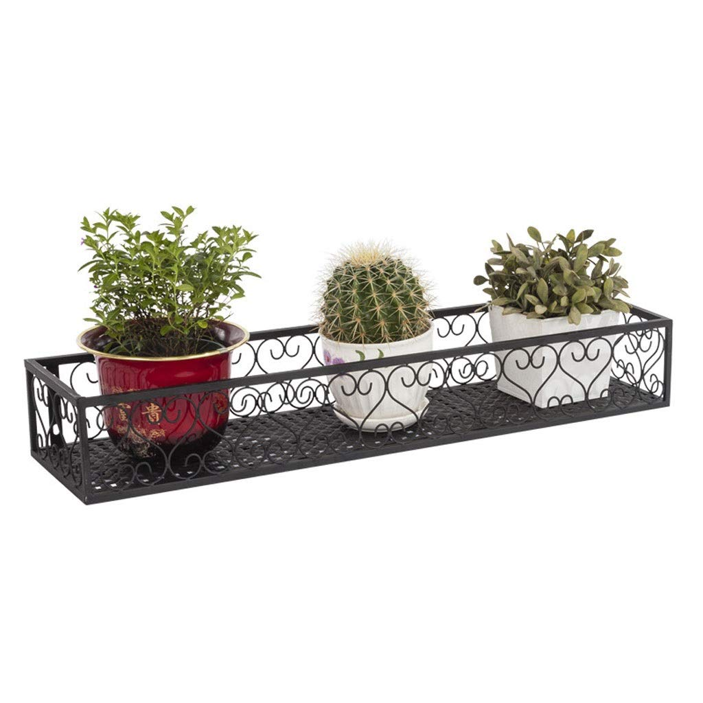 TMY Iron Plant Stand Balcony Hanging Flower Stand Frame Outdoor Decoration Display Metal Frame Wall Flower Pots (Color : Black, Size : 302012cm) by TMY