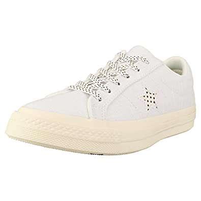 best sneakers 8a153 5e5ed Converse One Star Ox Womens Trainers White Black - 3.5 UK