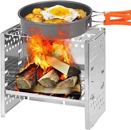 Details about  /Lixada Lightweight Camping Stove Portable Cooking Picnic Outdoor Wood Stove L7B0