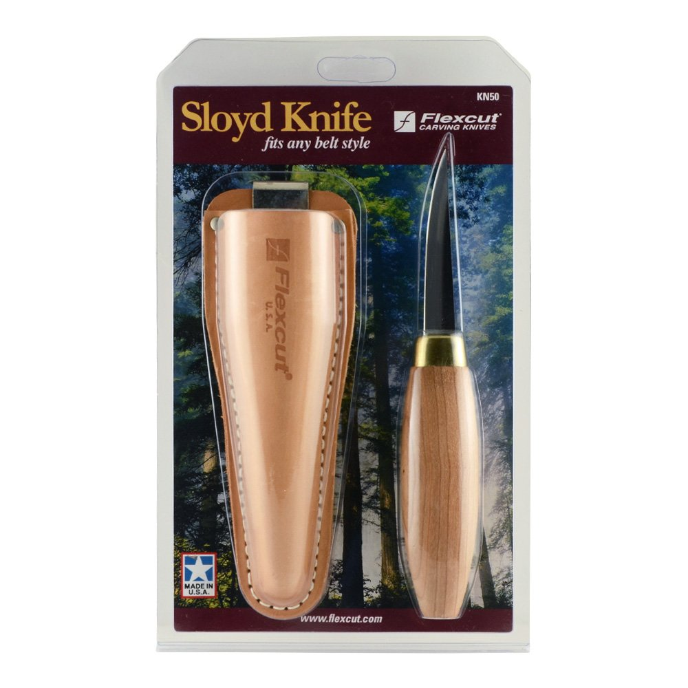 Flexcut Sloyd Knife, High-Carbon Steel Blade, 7 1/2 inch Overall Length, 2 7/8 inch Blade, (KN50)