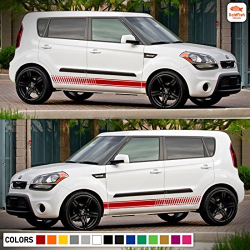 Decal Vinyl Graphic Side Sport Stripes Compatible with Kia Soul 1st 2nd Gen Models (Trim Decals Graphics)