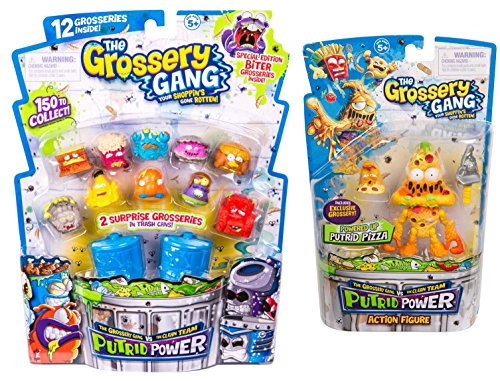 Gang Figure Set - Grossery Gang Season 3 S3 Putrid Power 12 Pack PLUS Putrid Pizza Figure!