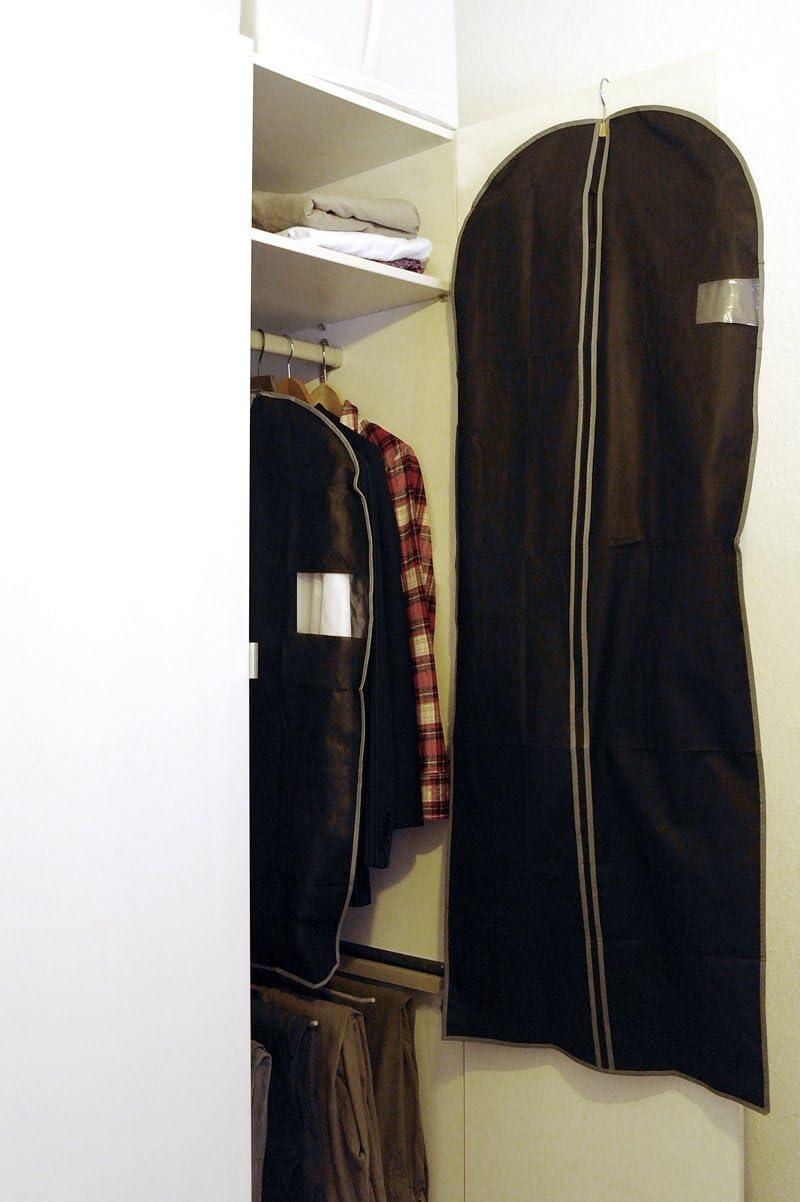 LS-LebenStil 2/´er Set Reise Kleidersack Kleiderschutzh/ülle Kleiderh/ülle 60x150 cm Schwarz Vlies