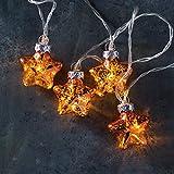 Mercury Glass Star Light Strand