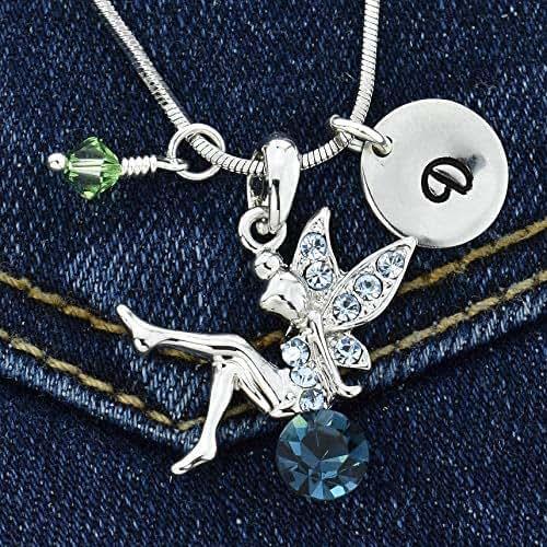 Sparkling Crystal Block Ring Chandelier: Amazon.com: Tinkerbell Blue Fairy Custom Pendant Sparkling