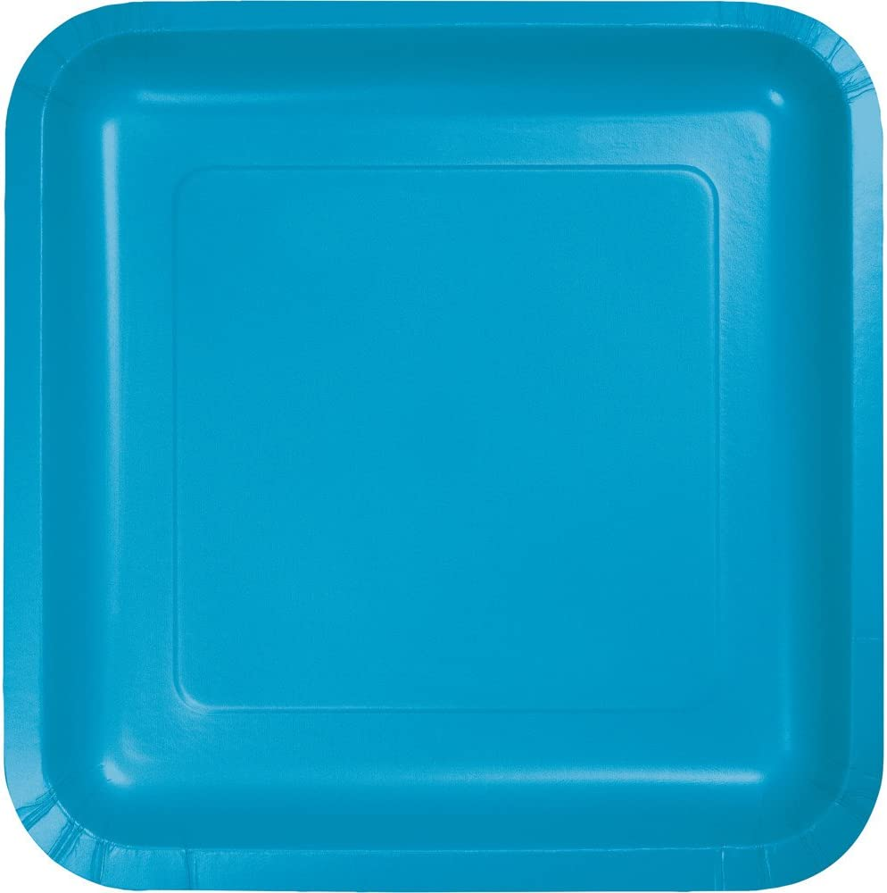 Amazon Com Pack Of 180 Turquoise Premium Disposable Paper Party Dinner Plates 9 Everything Else