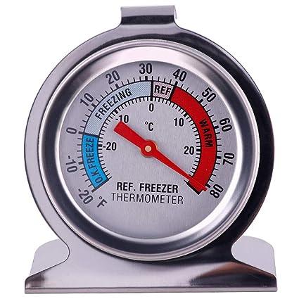 Teabelle - Termómetro para frigorífico o congelador, Tipo dial ...