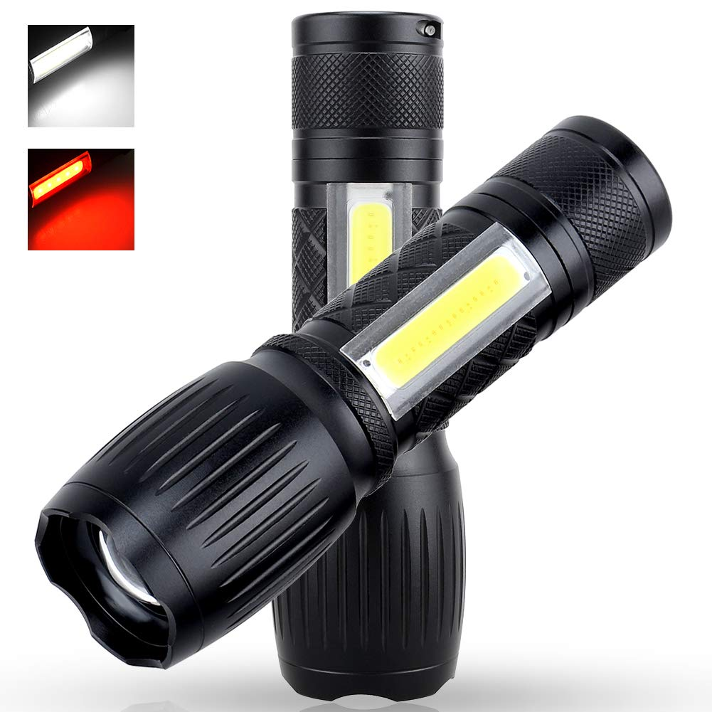 2Pack LED Flashlight,Upgrade A100 1200 Lumen Super Bright Camping Flashlights, Zoomable Focus 7 Light Mode Flash Lighting for Work Light,Biking,Emergency,Survival (Upgrade A100)