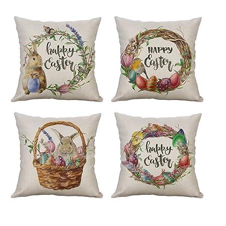 Mcaishen - Guirnalda de Huevo de Conejo con Dibujos de Pascua ...