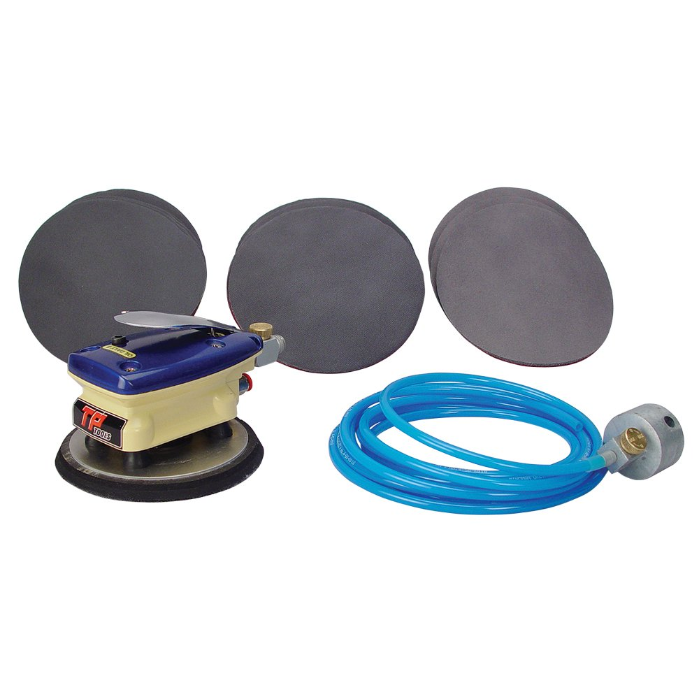 TP Tools''Sand-Wiz'' Wet Sanding Kit TP-3077K Bundled with 13 Mirka Abralon 6'' Hook & Loop Foam-Center Sanding Discs