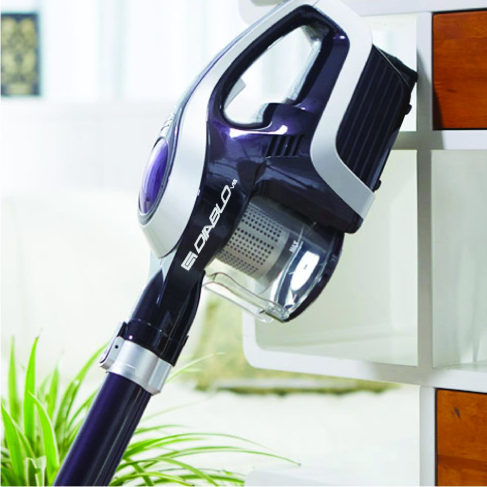 Diablo Upright cordless vacuum Cleaner, 8kpa suction power from 150W with HEPA filtration system