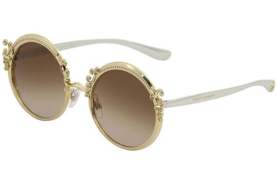 Dolce & Gabbana Damen Sonnenbrille 0DG2177 02/13, Gold (Gold/Browngradient), 53