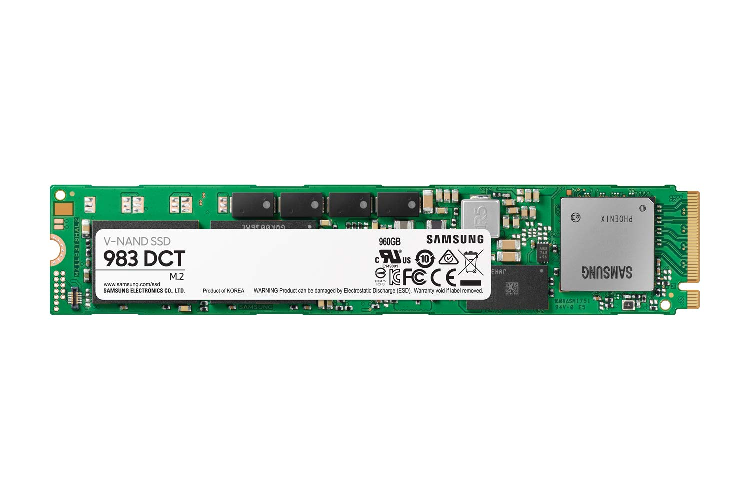 Samsung 983 DCT Series - 960GB NVMe M.2 (22110) SSD -  MZ-1LB960NE - 5 year limited warranty