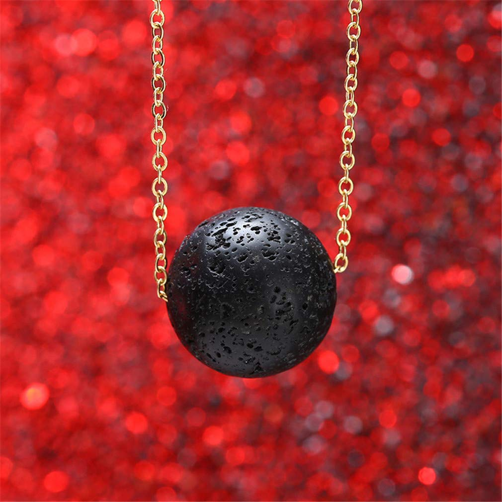 Iumer Lava Bead Stone Shape Pendant Essential Oil Diffuser Necklace,Ball by IumerIU (Image #4)