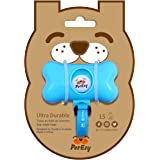 PetEzy Dog Poop Bag Dispenser with Adjustable Strap, Includes 15 Durable Dog Waste Bags