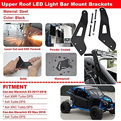 For 50 '' LED Light Bar Upper Roof Windshield Mounting Brackets Fit Can-am Maverick X3 2020 2020 2020 2020: Automotive