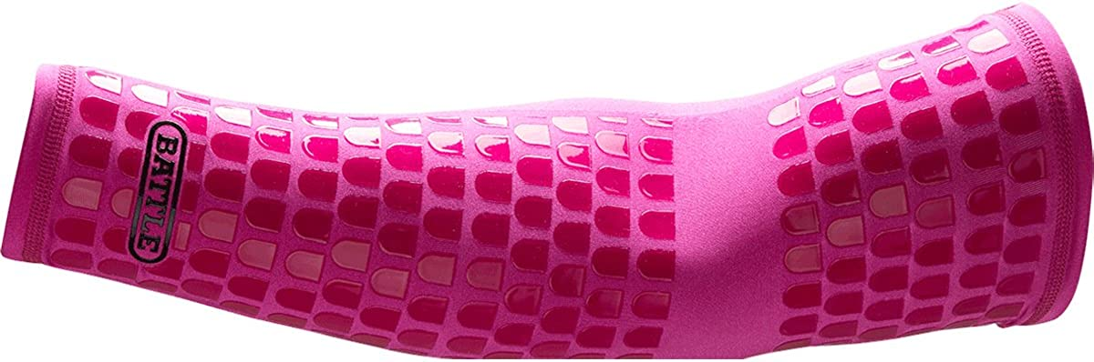 Battle Ultra-Stick Full Arm Sleeve – Compression Support Sleeves with Ultra-Tack Grip – Forearm and Elbow Protection, Single: Clothing