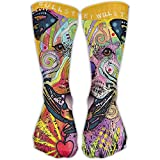 Colorful Pitbull Knee Socks For Man&women Boots Socks Winter High Graduated Compression Sox,for Running & Fitness&Yoga Indoor Office
