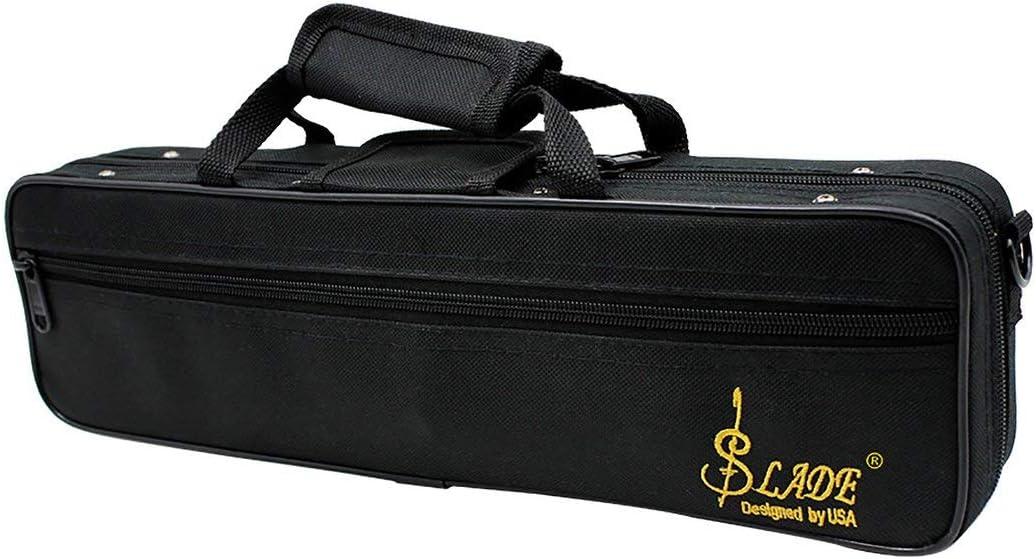 Lamica Flute Case Gig Bag Backpack Box Water-Resistant 600D Foam Cotton Padding with Adjustable Single Shoulder Strap