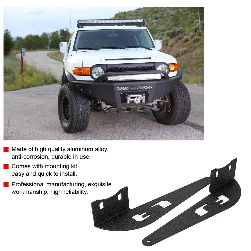 Fydun Curved LED Light Bar Mounting Brackets 1 Pair 52in for FJ Cruiser 2007-2014