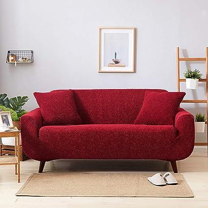 DW&HX Japonés Color sólido Funda para sofá, Stretch ...