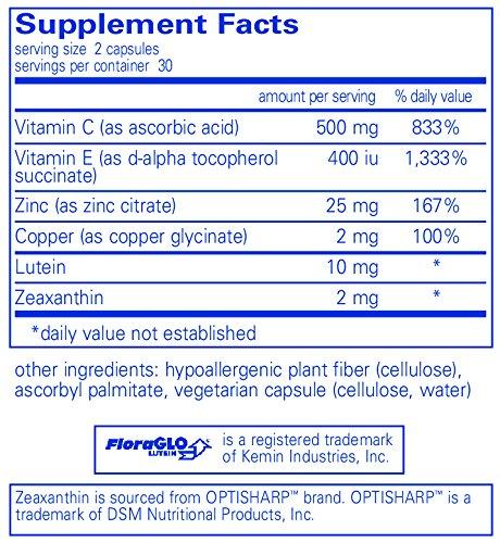 Pure Encapsulations - EyeProtect Basics - Key Antioxidant Support for Eye Health - 60 Capsules Discount