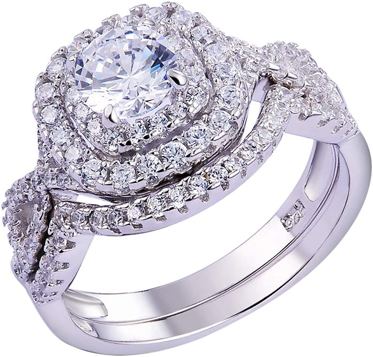 Men/'s Solid 925 Sterling Silver Round Cut 1 Ct AAA CZ Band Wedding Party Ring