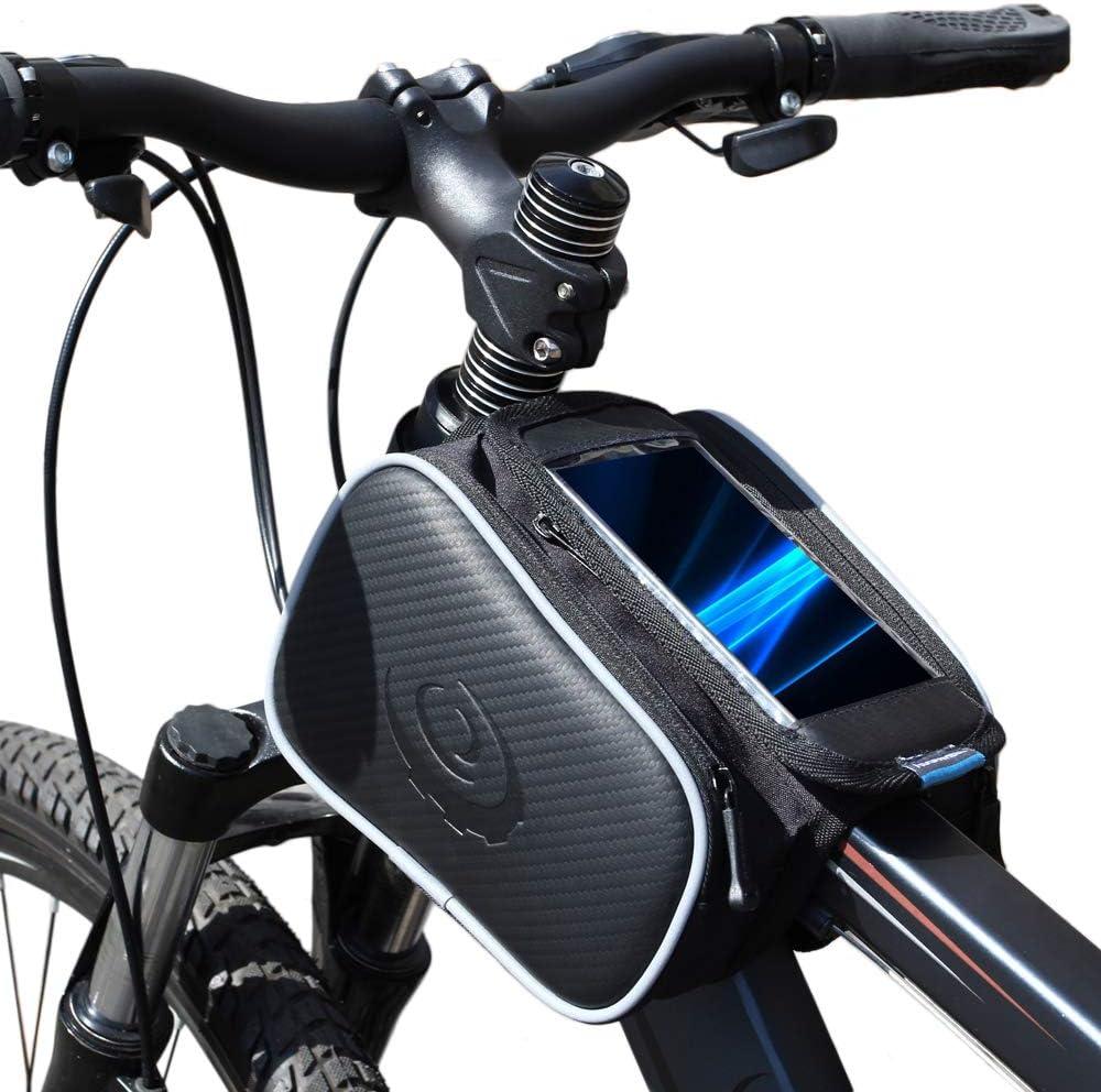 Bolsa doble para cuadro de bicicleta con capacidad de 1,8 l, Nero ...