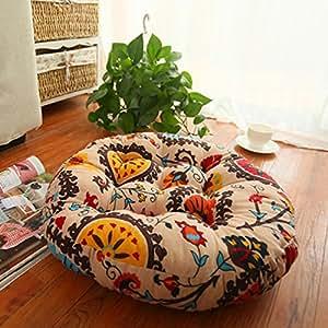 Amazon.com: Anzona redondo de piso Hippie cojines de tela ...