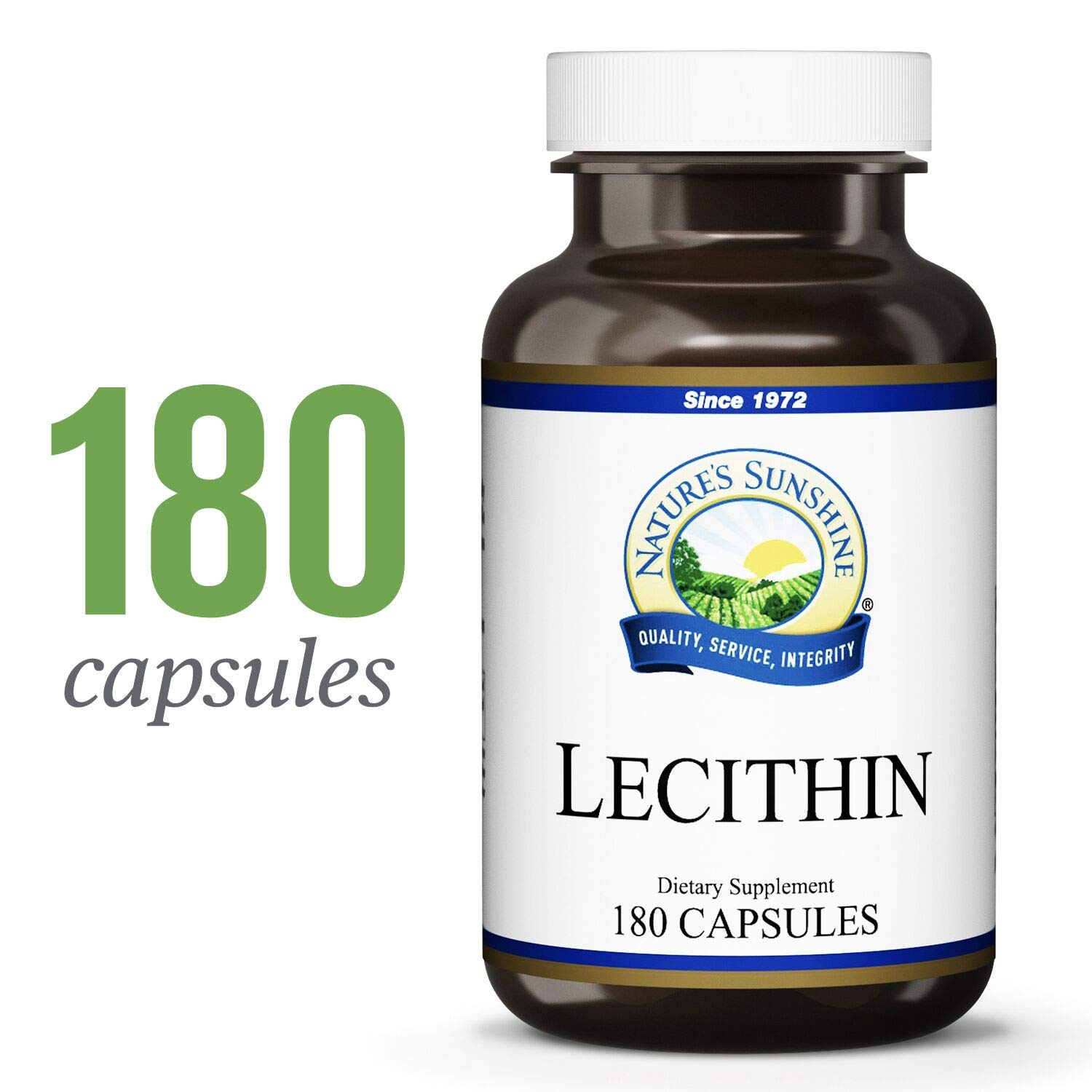 Nature's Sunshine Lecithin, 180 Softgels | Supports The Nervous System, Supports Healthy Circulatory System Function, and Helps Cell Membranes by Nature's Sunshine