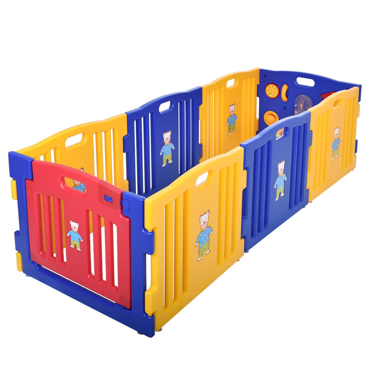 New 8 Panel Safety Play Center Baby Playpen Kids Yard Home Indoor Outdoor Pen by Eade shop (Image #4)