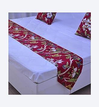 Multi-Table Bandera de Cama Toalla de Cama tapete de Cama decoración de Cama Tela de decoración de Hotel Estrella de Magnolia de jardín 200 x 33 cm: ...