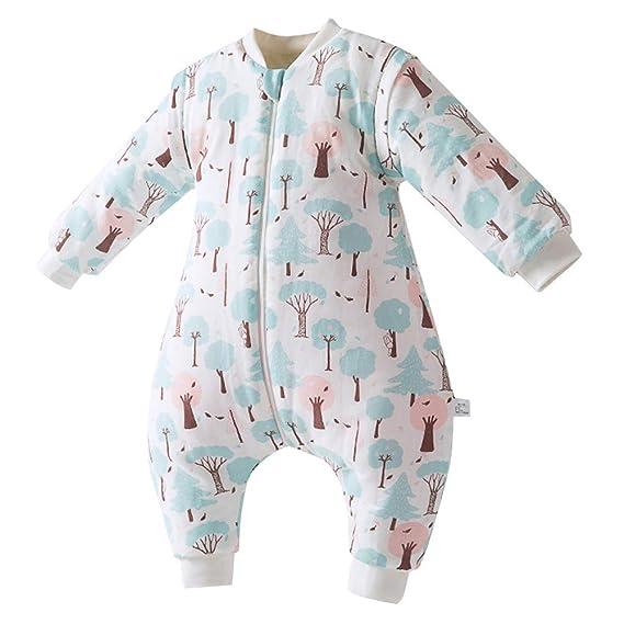 3b2056321 Happy Cherry Baby Girls Boys Sleeping Bag Cotton Rompers Bodysuit ...