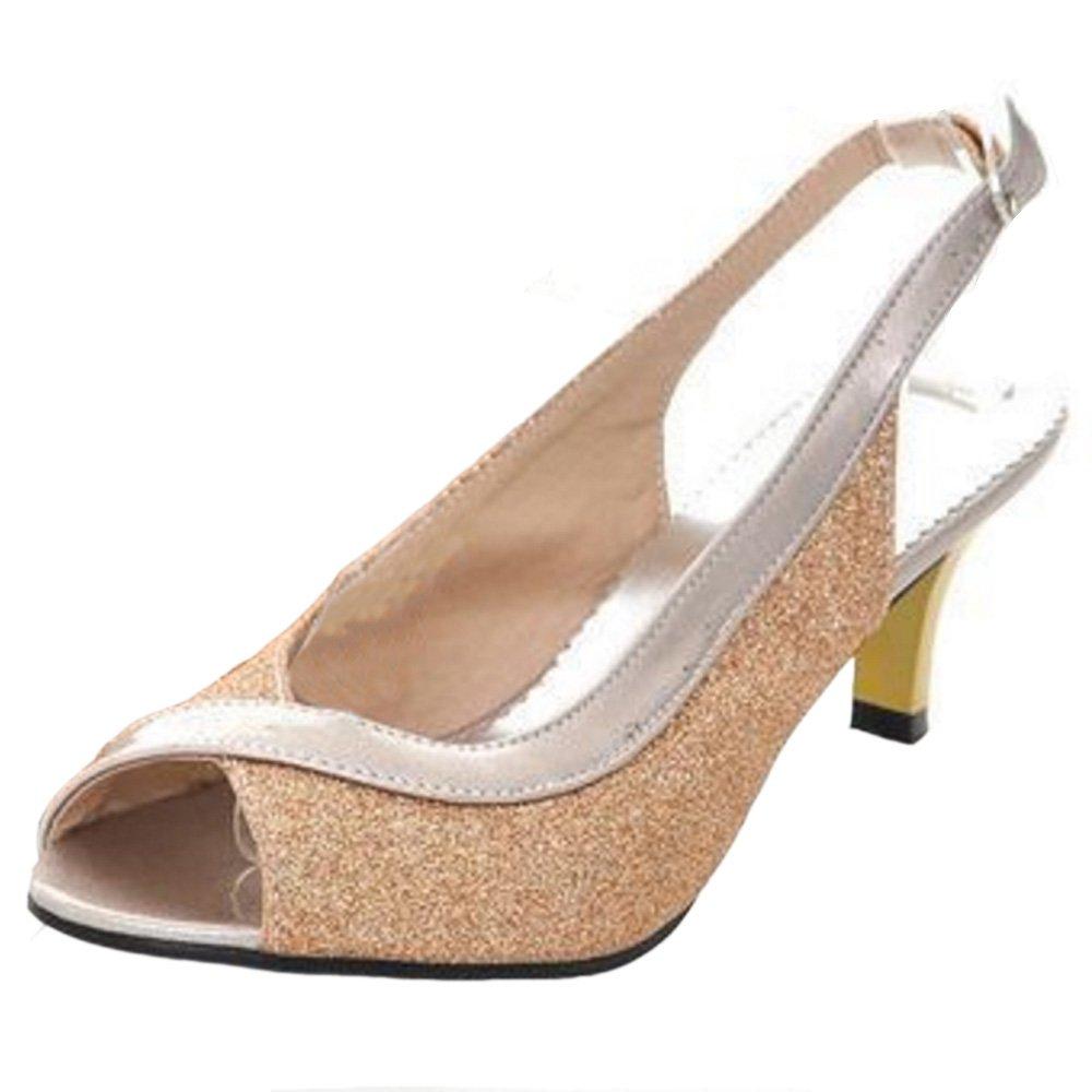 Zanpa Femme Kitten Heel Escarpins Sandales Slingback Zanpa Heel Femme Or d6b4c6f - epictionpvp.space