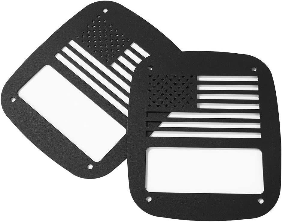 Carbon Fiber Headlight Eyebrow Sticker Metal Rear Tail Light Guards Repairing Elements Taillight Outdoor Anti-resistance Covers for Jeep Wrangler 1997-2006 TJ YJ